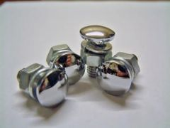 Set of Four Chrome Bumper Bolts Consul/Classic/Capri